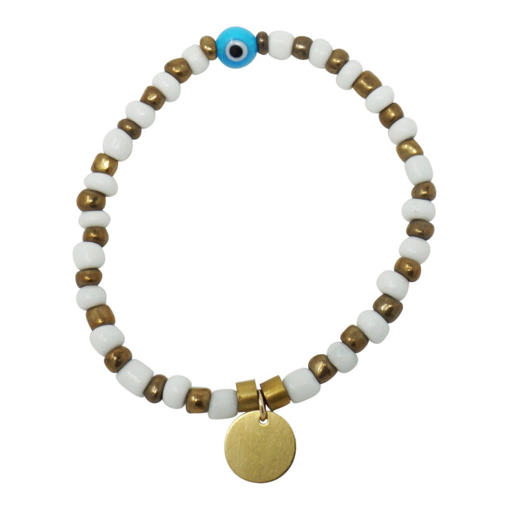 The Golden Eye - Beaded Bracelet