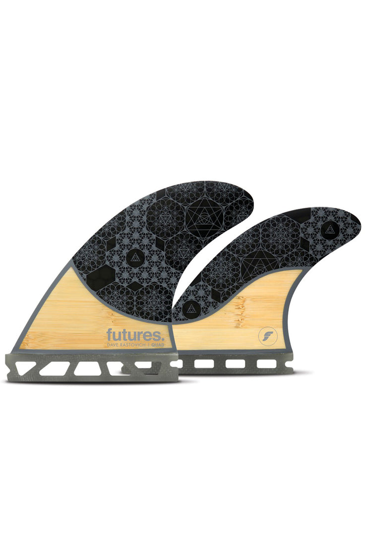 Rasta Quad Futures - Bamboo/Grey Honeycomb