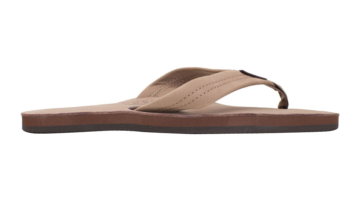 Men's Single Layer Premier Leather with Arch Support - Dark Brown