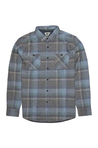 Ashbury LS Flannel - Breaker Blue