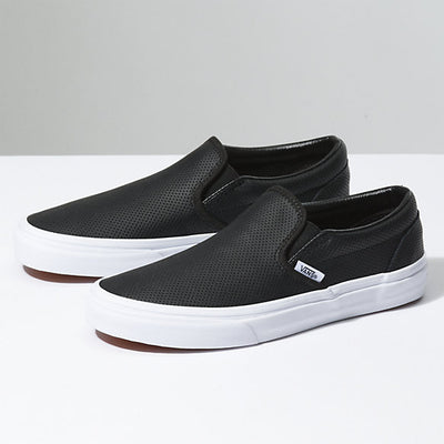 UA Classic Slip On - Perf Leather - Black