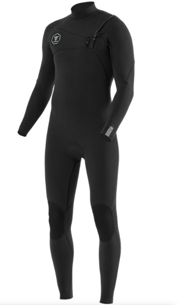 Seven Seas 2/2 Full Suit - Chest Zip - Black with Jade