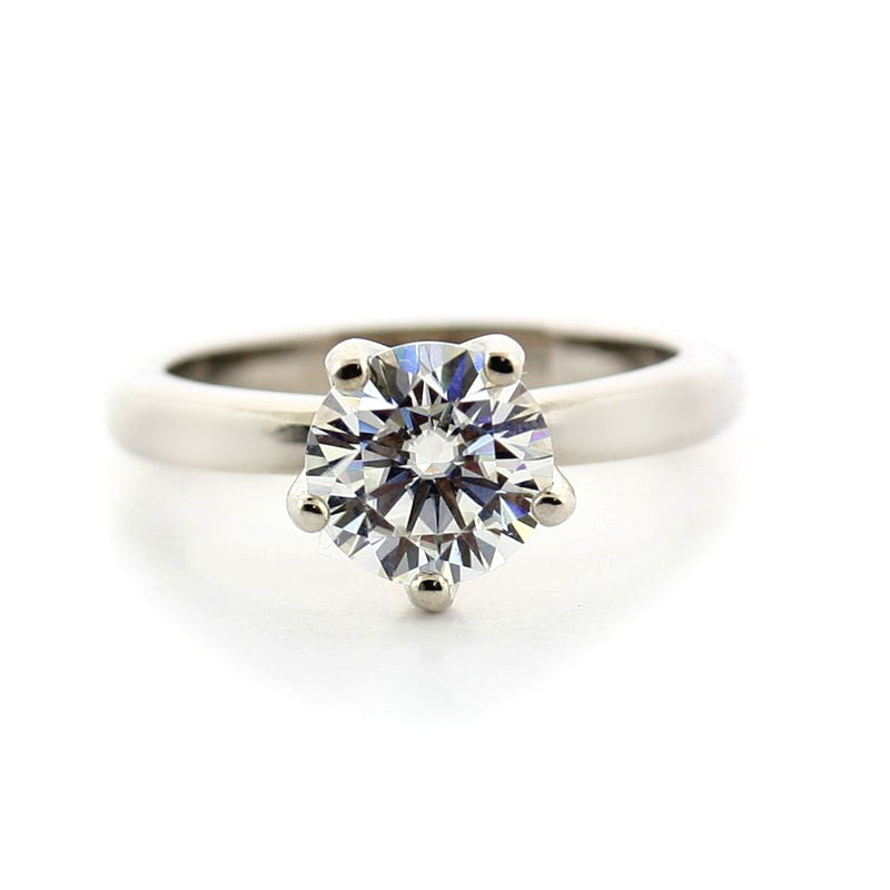 Round Solitaire Moissanite Engagement Ring 1.20ct - Thenetjeweler