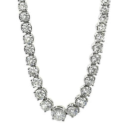 Diamond River Necklace 18K White Gold (15.28 ct. tw.) - Thenetjeweler