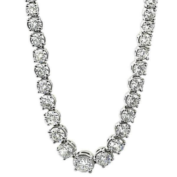 15.28cts Diamond River Necklace 18K White Gold - Thenetjeweler by Importex