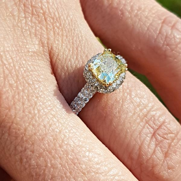 Yellow Diamond Engagement Rings - Thenetjeweler