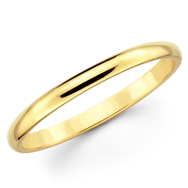 14k Yellow Gold Wedding Band 2.5mm Light - Thenetjeweler