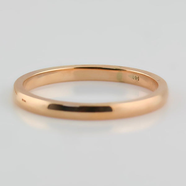3mm Men's Wedding Band 14K Rose Gold - Thenetjeweler