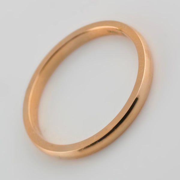 3mm Men's Wedding Band 14K Rose Gold