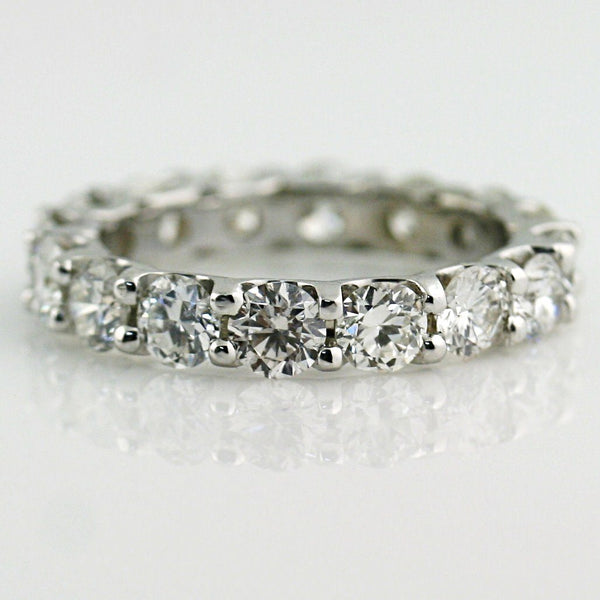 3.10 cwt Diamond Eternity Ring Band 18k White Gold - Thenetjeweler by Importex