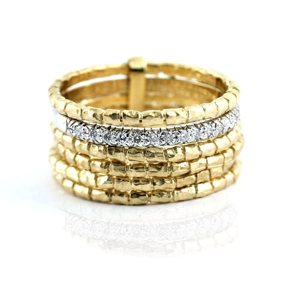Multiple Band Gold Ring - Thenetjeweler