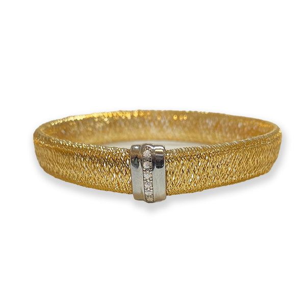 Italian Two-Color Mesh Stretch Bracelet - Thenetjeweler