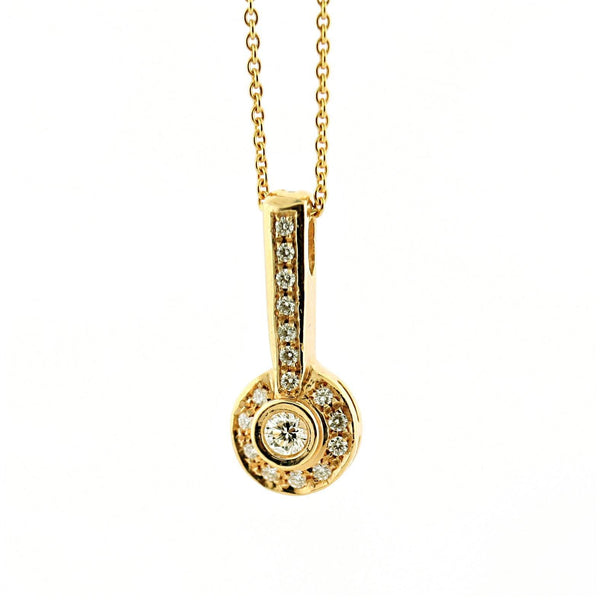 Diamond Pendant 18K Yellow Gold Necklace (0.30 carat) - Thenetjeweler