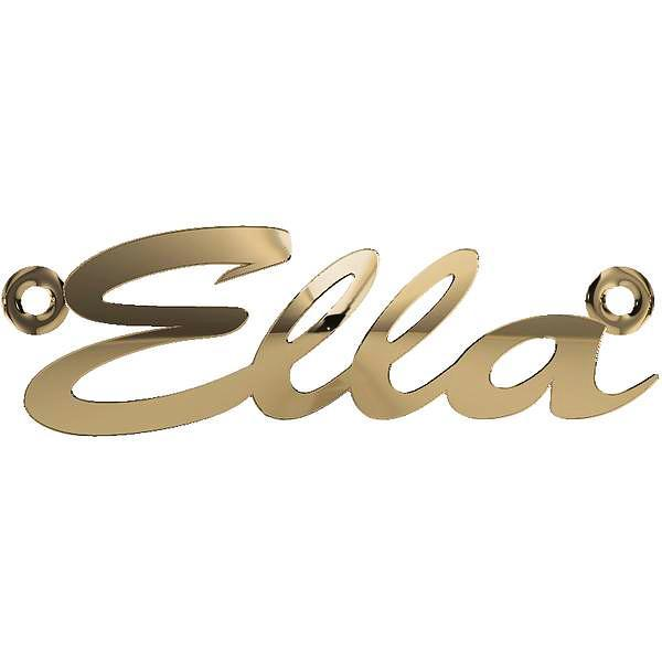 Personalized Name Necklace Ella 14K Yellow Gold - Thenetjeweler