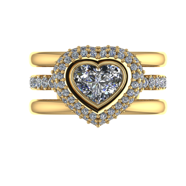 Love Heart Engagement Ring - Thenetjeweler