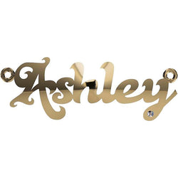 Personalized Name Necklace Ashley with Diamond 14K Yellow Gold - Thenetjeweler by Importex