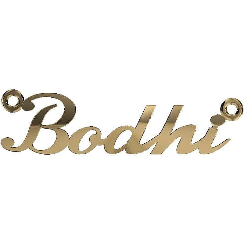 Personalized Name Necklace Bodhi 14K Yellow Gold - Thenetjeweler
