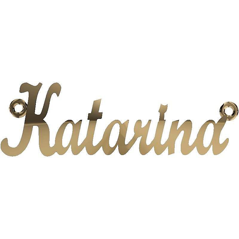 Personalized Name Necklace Katarina 14K Yellow Gold - Thenetjeweler