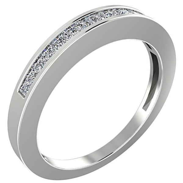 Princess Diamonds Semi Eternity Ring 14K White Gold - Thenetjeweler by Importex