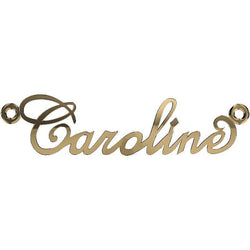 Personalized Name Necklace Caroline 14K Yellow Gold - Thenetjeweler by Importex
