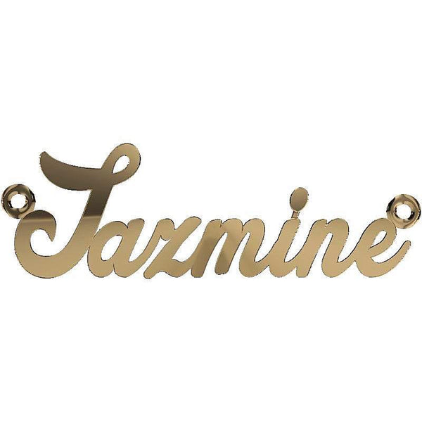 Personalized Name Necklace Jazmine 14K Yellow Gold - Thenetjeweler