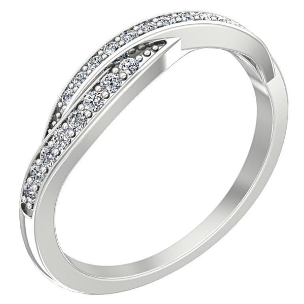 Twisted Diamond Ring 14K White Gold - Thenetjeweler