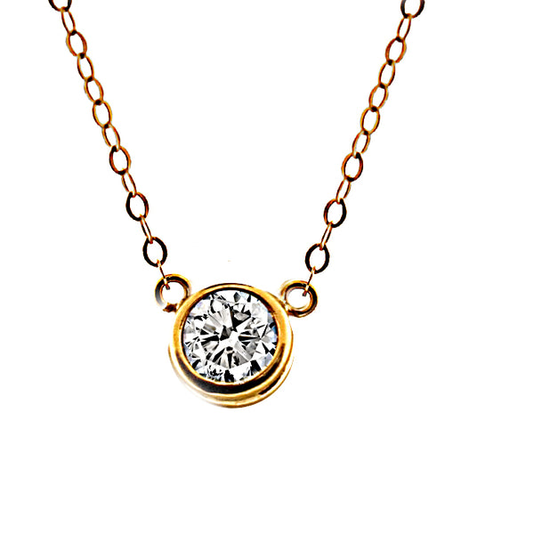 Moissanite Pendant Necklace 1 carat - Thenetjeweler