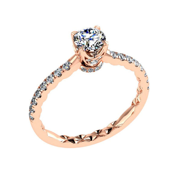 Round Diamond Rose Gold Engagement Ring (0.40 ct. tw) - Thenetjeweler