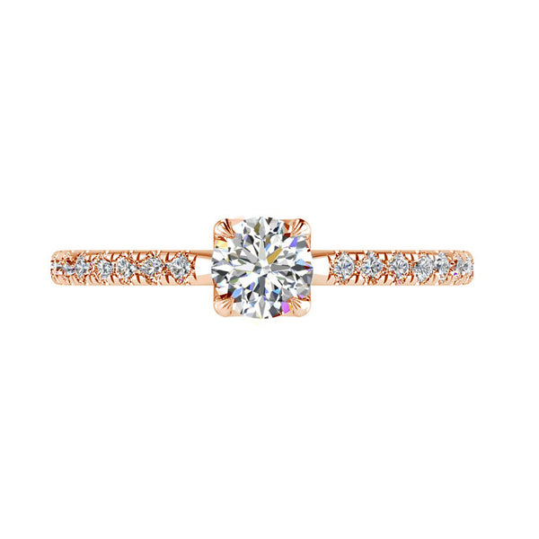 Round Diamond Rose Gold Engagement Ring