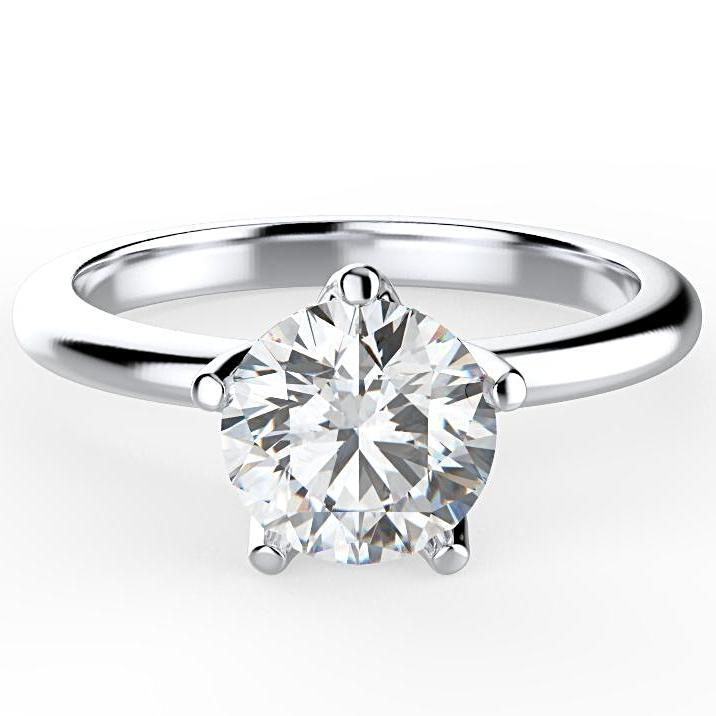 1 ct Round Diamond Solitaire Engagement Ring - Thenetjeweler