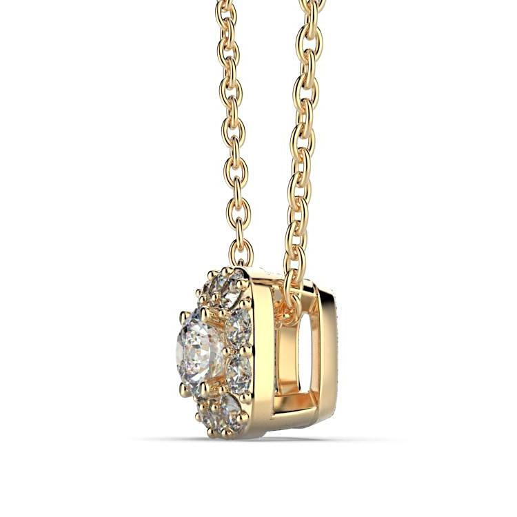 Cushion Halo Diamond Pendant - Thenetjeweler