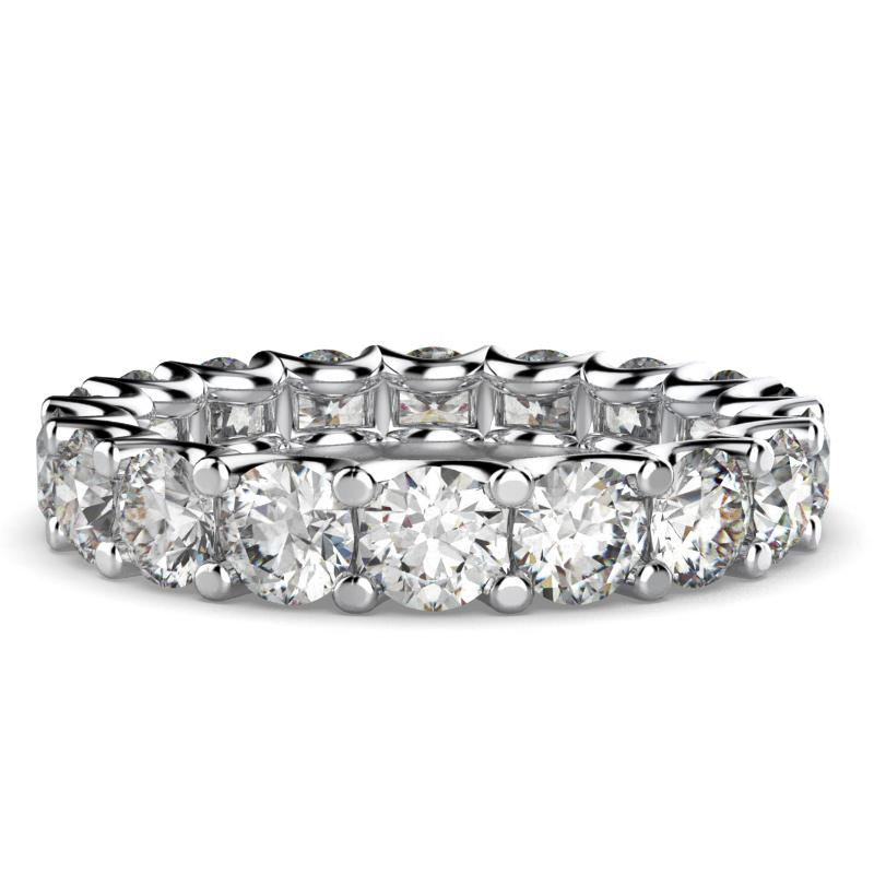 Diamond Eternity Ring Band 18k White Gold (3.0 ct. tw) - Thenetjeweler by Importex