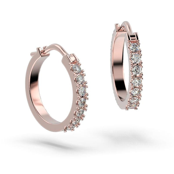Diamond Pink Gold Hoop Earrings (0.50 ct. tw) - Thenetjeweler