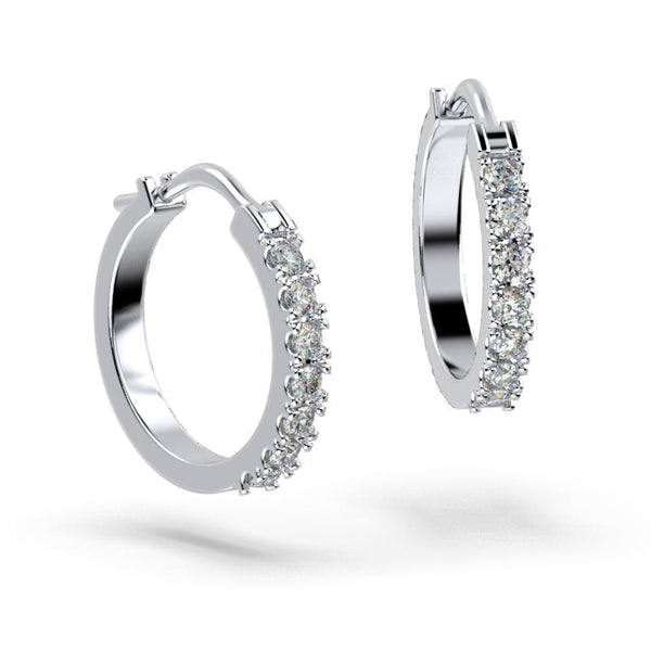 Diamond Hoop Earrings 14K Gold (0.50 ct. tw.) - Thenetjeweler