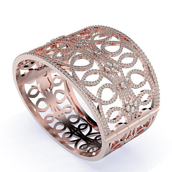 Diamond Bangle Rose Gold Bracelet