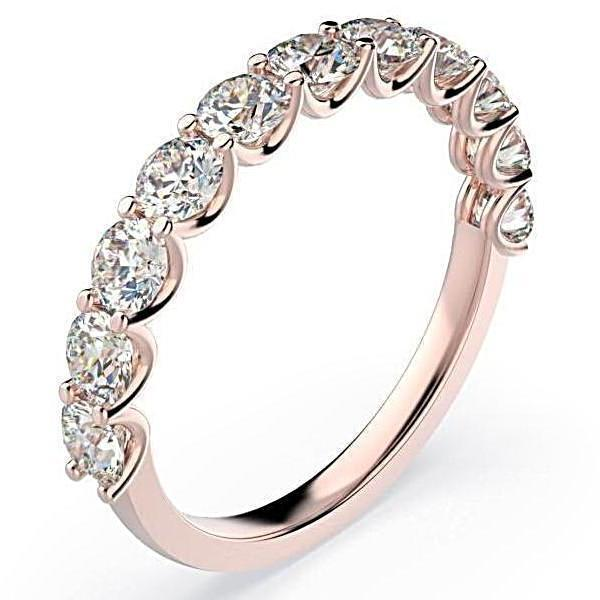 Diamond Semi Eternity Ring Band 18K Gold (1.10 ct. tw.) - Thenetjeweler