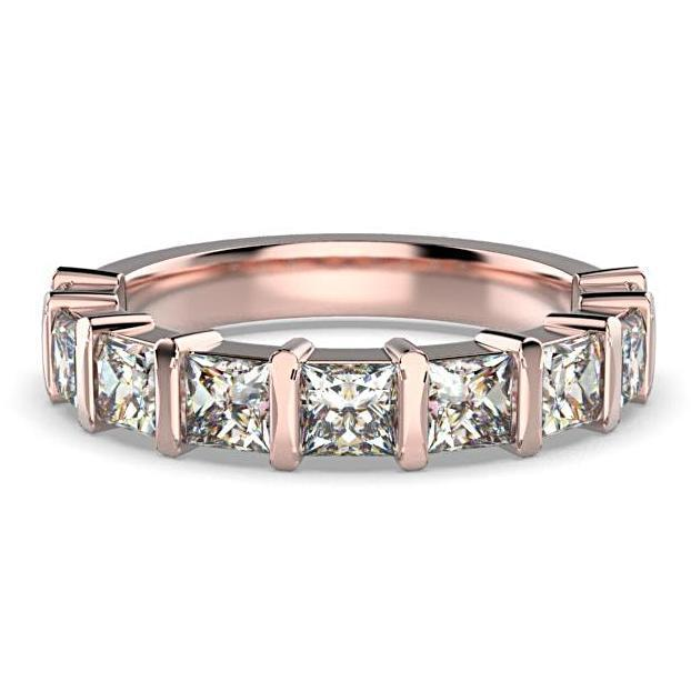 Princess Cut Diamond Semi Eternity Ring 18K White Gold Band 1.80 ct tw - Thenetjeweler by Importex