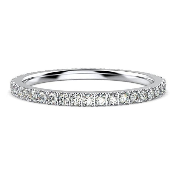0.45 cwt Diamond Eternity Ring Band Platinum - Thenetjeweler by Importex