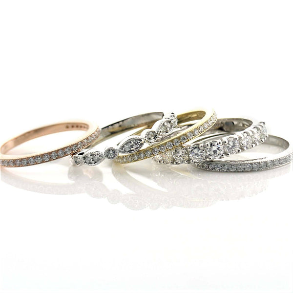 Diamond Stacked Anniversary Bands- Thenetjeweler by Importex