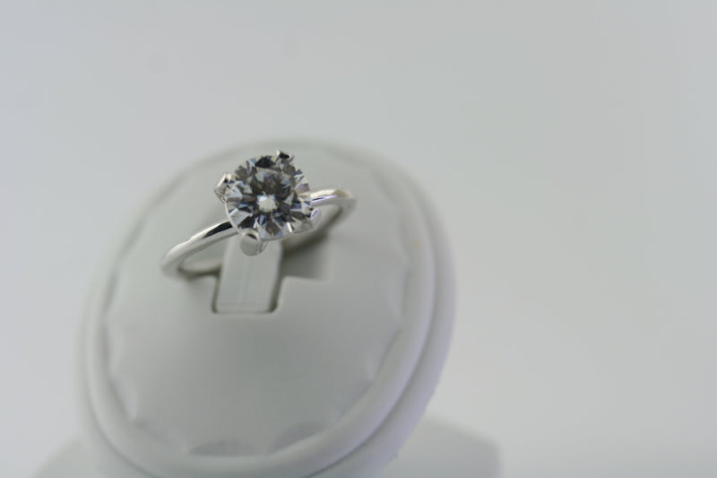 ROUND SOLITAIRE MOISSANITE RING - Thenetjeweler