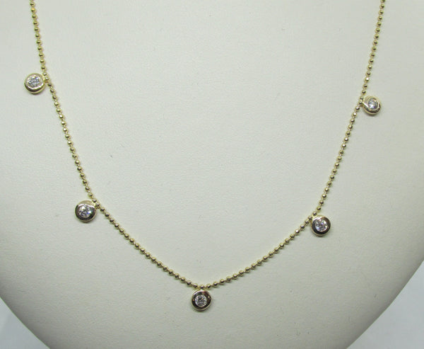 Bezel-Set Diamond Necklace - Thenetjeweler