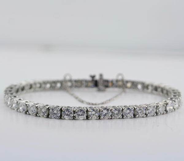 Tennis Diamond Bracelet 14K White Gold 3 ct.t.w. - Thenetjeweler