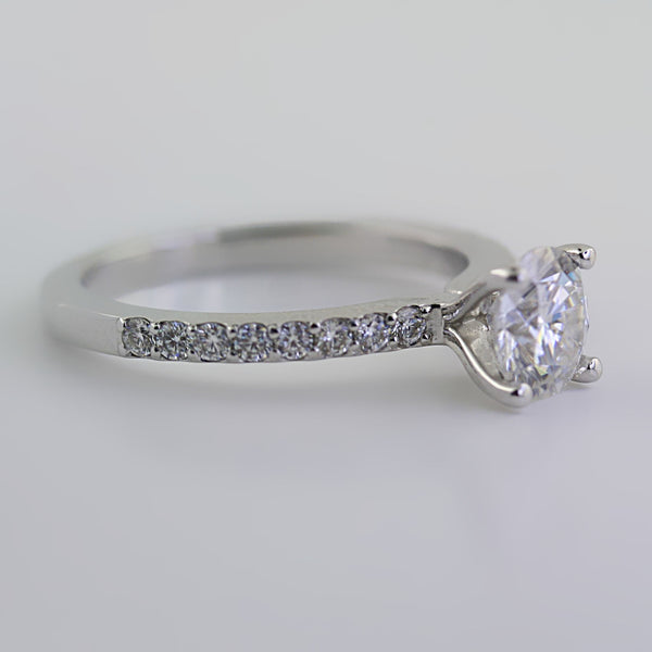 Round Cut Moissanite Engagement Ring - Thenetjeweler