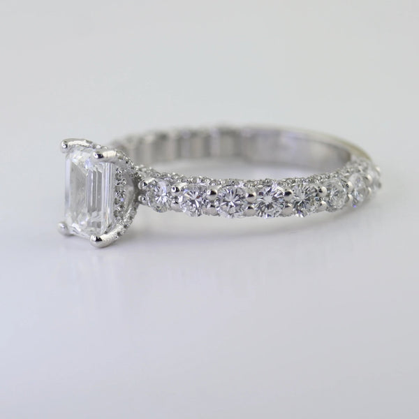 Chris & Nat Emerald Cut Diamond Engagement Ring - Thenetjeweler