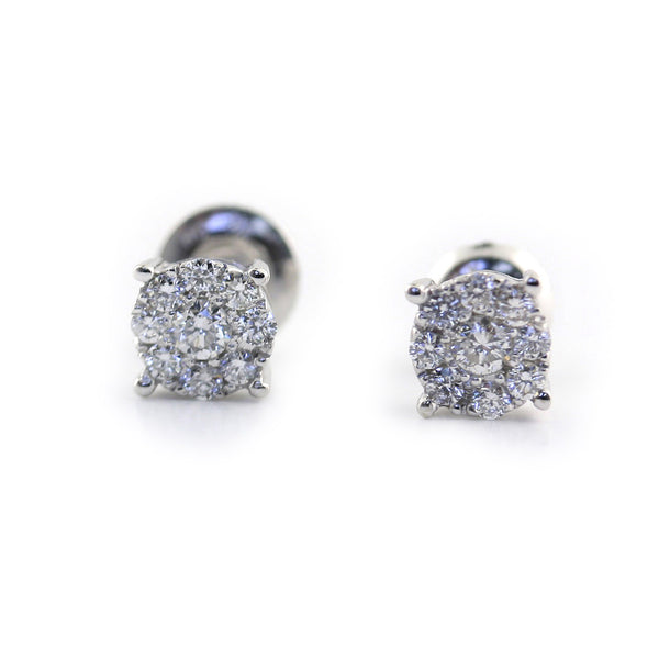 Illusion Diamond Stud Earrings 0.50 ct. tw - Thenetjeweler