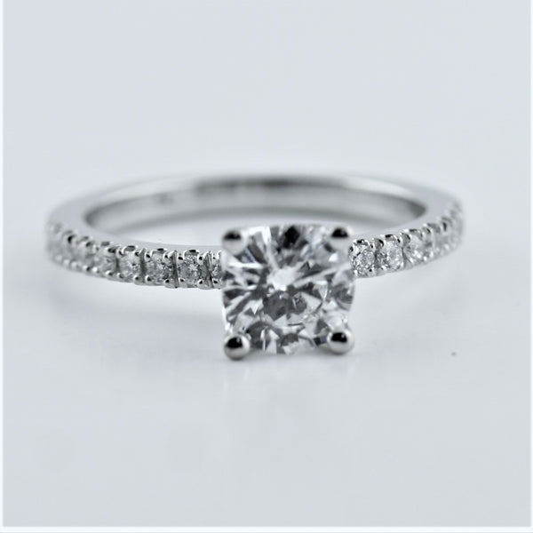 Diamond Engagement Ring with Heart Prongs