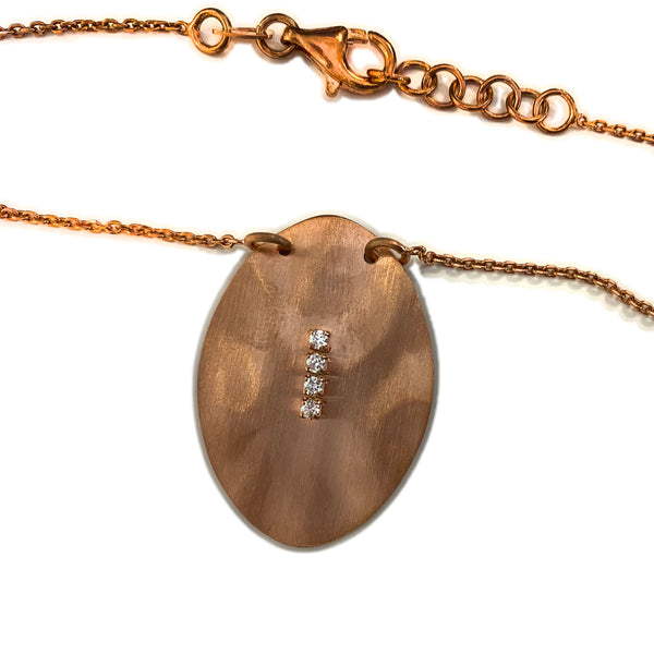 Italian Bronze Tone Sterling Silver Drop Necklace
