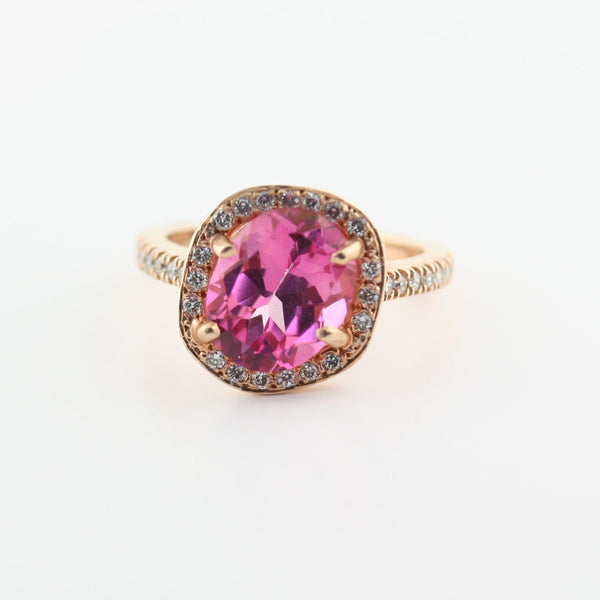 Copy of Ruby and Diamond Ring Rose Gold - Thenetjeweler