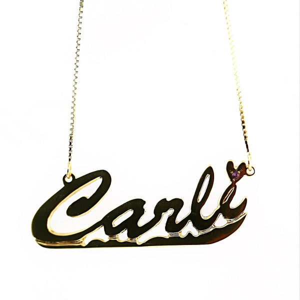 Personalized Necklace 14k Yellow Gold Carli Name Necklace - Thenetjeweler by Importex