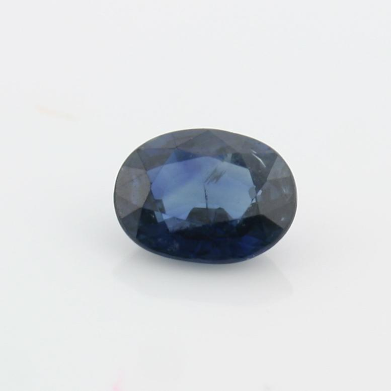 1.63 carat Oval Blue Sapphire Certified 6.23 x 8.18 mm - Thenetjeweler by Importex